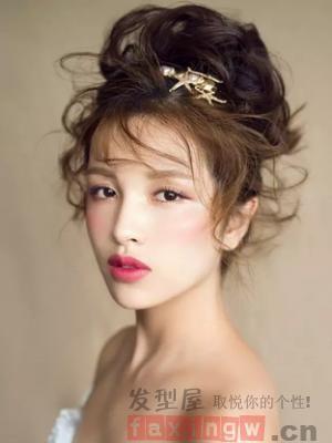新娘盘发发型大全 2015新娘盘发发型 中式新娘盘发发型 短发新娘盘发
