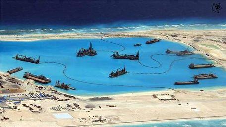 [中国南海填海造岛]中国南海永暑礁填海_越南逼近中国